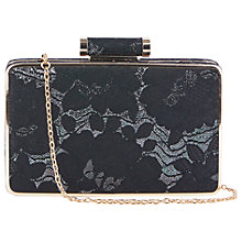 Buy Oasis NTU Lace Box Clutch Bag, Multi Black Online at johnlewis.com