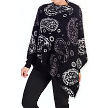 Buy Chesca Knitted Paisley Poncho, Black/Grey Online at johnlewis.com