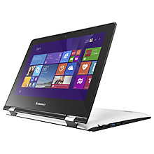 "Buy Lenovo YOGA 300-11IBR Laptop, Intel Celeron, 4GB RAM, 64GB EMMC, 11.6"" Touch Screen, Snow White Online at johnlewis.com"