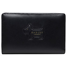 Buy Radley Profile Dog Leather Flapover Medium Matinee Purse Online at johnlewis.com