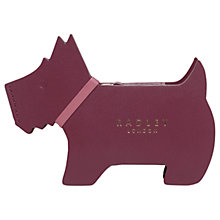 Buy Radley Profile Dog Leather Small Coin Purse, Berry Online at johnlewis.com