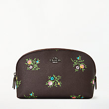 Buy Coach Printed Canvas Cosmetic Case 22, Dark Floral Online at johnlewis.com