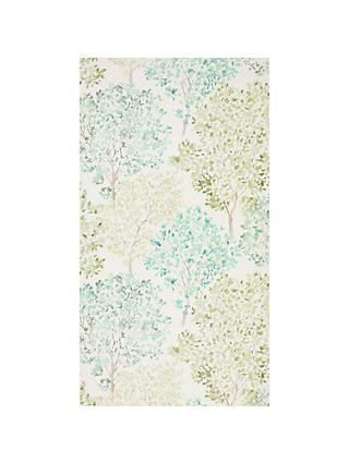 Superior John Lewis Leckford Trees Wallpaper, Green