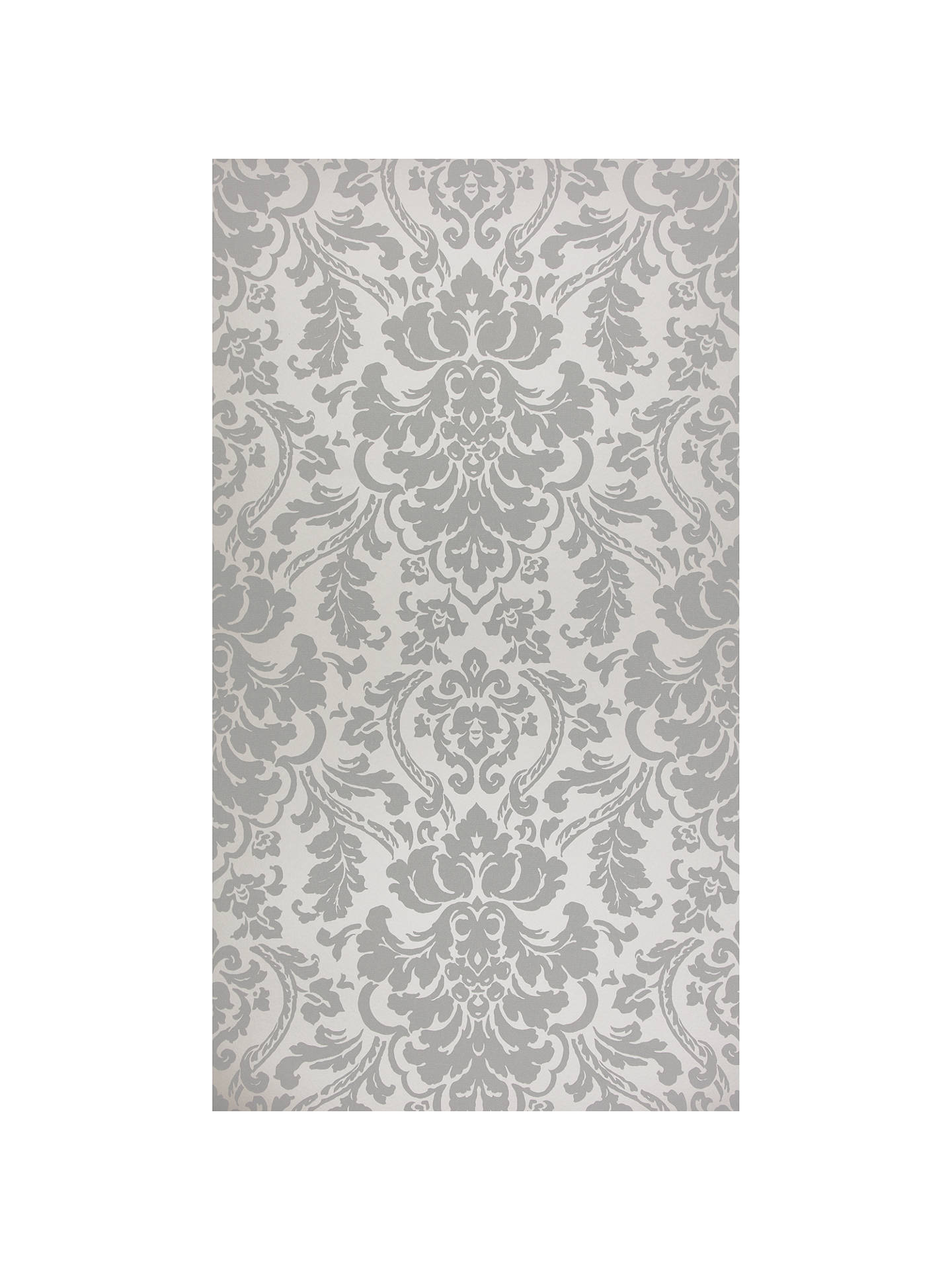 BuyJohn Lewis Partners Stockbridge Damask Wallpaper Blue Grey Online At Johnlewis