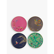 Buy Sara Miller Chelsea Collection Birds Cake Plates, Dia.20cm, Assorted, Set of 4 Online at johnlewis.com