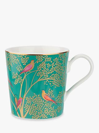 Sara Miller Chelsea Collection Birds Mug, 340ml, Green