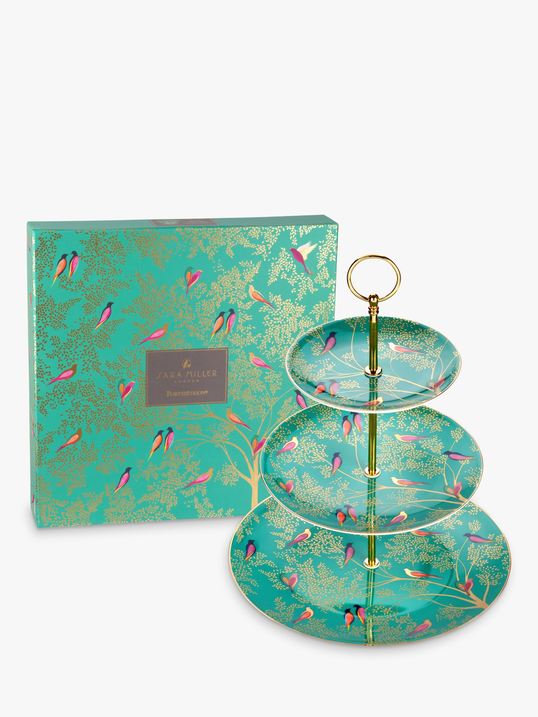 Sara Miller Chelsea Collection Cake Stand, Green
