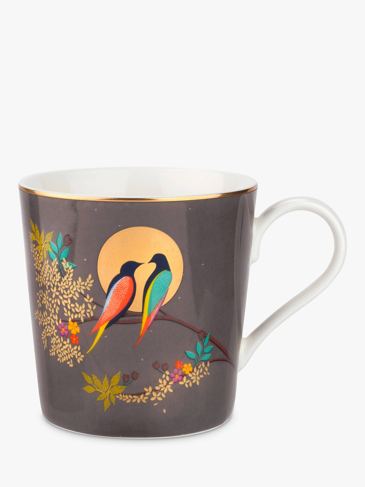 BuySara Miller Chelsea Collection Birds Mug, 340ml, Grey Online at johnlewis.com