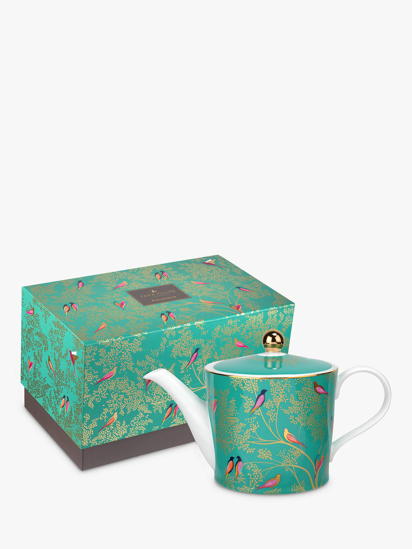 BuySara Miller Chelsea Collection Teapot, 1.1L, Green Online at johnlewis.com