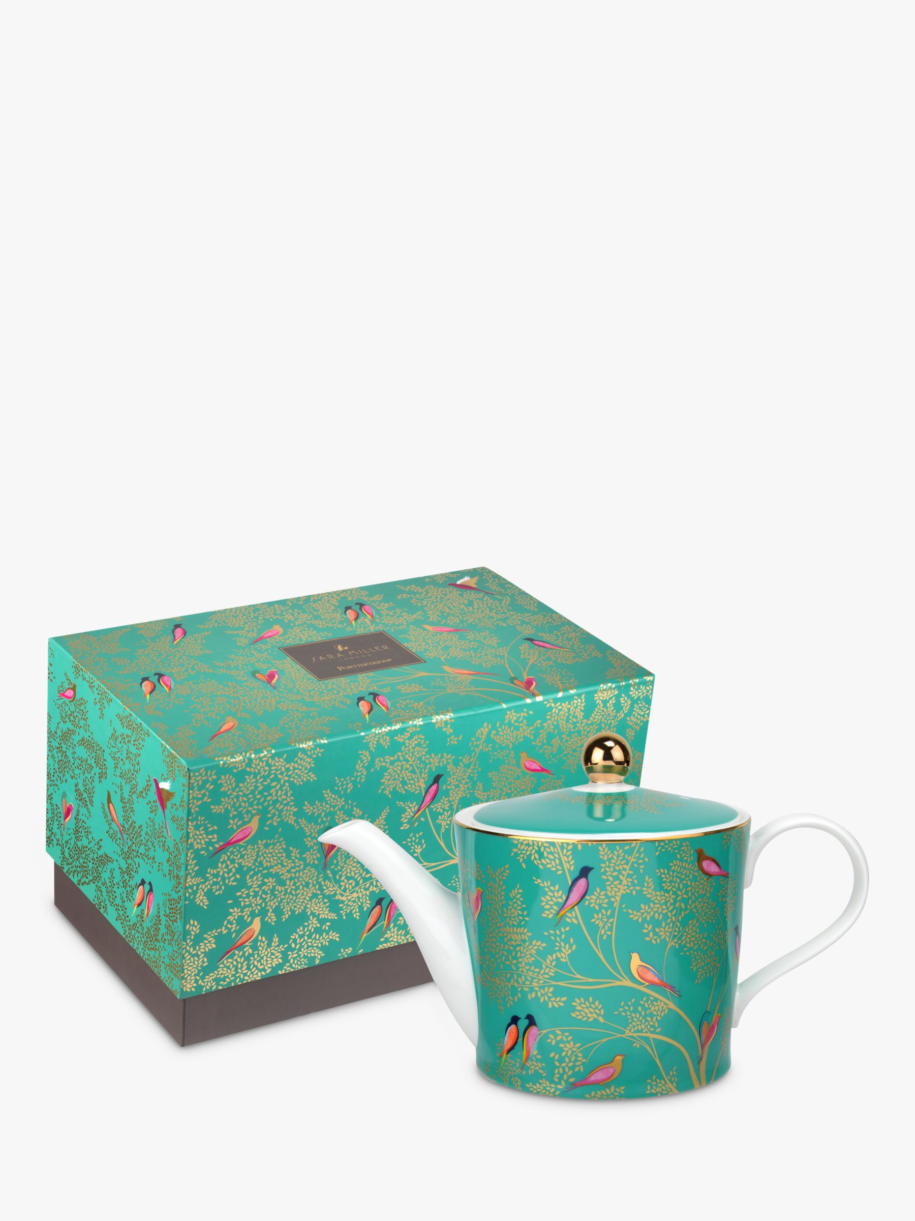Sara Miller Chelsea Collection Teapot, 1.1L, Green