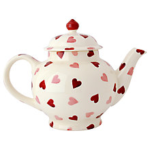 Buy Emma Bridgewater Pink Hearts 4 Mug Teapot, White/Pink, 1.2L Online at johnlewis.com