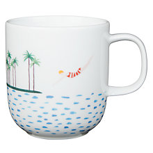 Buy House by John Lewis Swimmers Mug, White/Multi, 320ml Online at johnlewis.com