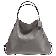 Buy Coach Edie 42 Leather Shoulder Bag, Heather Grey Online at johnlewis.com