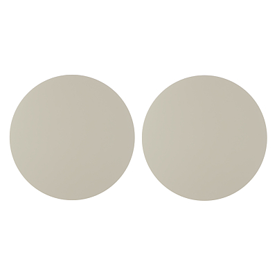John Lewis & Partners Scandi Painted Round Wood Placemats, Set of 2