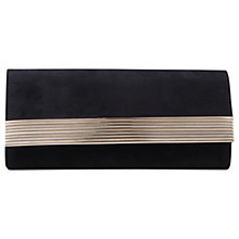 Buy Miss KG Holla Suedette Clutch Bag, Black Online at johnlewis.com