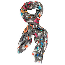 Buy Chesca Abstract Wool Silk Scarf, Grey/Multi Online at johnlewis.com
