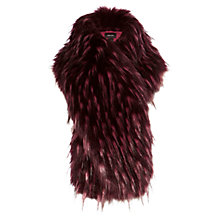 Buy Karen Millen Faux Fur Stole, Pink/Multi Online at johnlewis.com