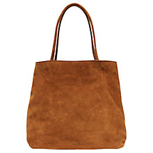 Buy French Connection Lottie Suede Tote Bag, Tan Online at johnlewis.com