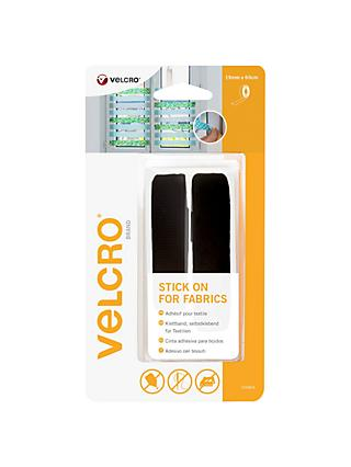 VELCRO® Brand Stick On For Fabrics Tape, 19mm x 60cm, Black