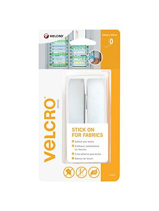 VELCRO® Brand Stick On For Fabrics Tape, 19mm x 60cm, White