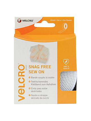 VELCRO® Brand Sew On Snag Free Fastener Tape, 20mm x 3m, White