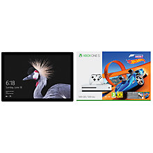 "Buy New Microsoft Surface Pro Tablet, Intel Core i7, 16GB RAM, 1TB SSD, 12.3"" Touchscreen and Microsoft Xbox One S Console, 500GB, with Wireless Controller and Forza Horizon 3 Hot Wheels Bundle Online at johnlewis.com"