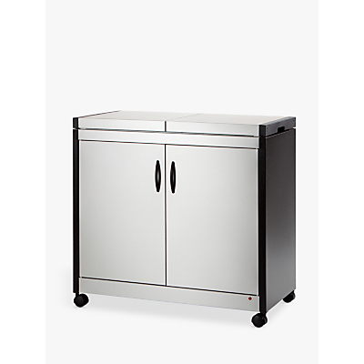 Image of Crosslee HL6232BS Hostess Trolley, Brushed Steel