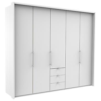 John Lewis & Partners Pirna Bi Fold 250cm 5 Door Wardrobe with 3 Drawers