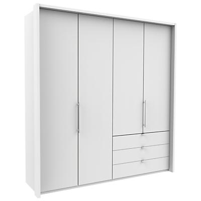 John Lewis & Partners Pirna Bi Fold 200cm 4 Door Wardrobe with 3 Right Drawers