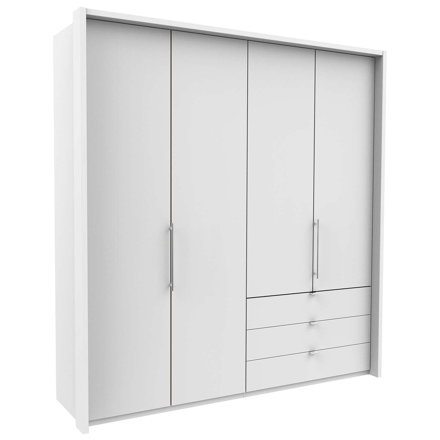 Buyjohn Lewis Pirna Bi Fold 200Cm 4 Door Wardrobe With