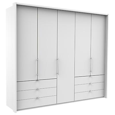 John Lewis & Partners Pirna Bi Fold 250cm 5 Door Wardrobe with 6 Drawers