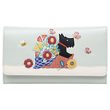 Buy Radley Basket Bouquet Leather Large Flapover Matinee Purse, Sea Mist Online at johnlewis.com