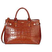 Buy Modalu Emerson Leather Croc Large Grab Bag Online at johnlewis.com