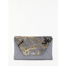 Buy Modern Rarity Carmenere Leather Card Holder, Blue Snake Online at johnlewis.com