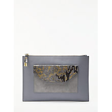 Buy Modern Rarity Carmenere Leather Pouch Purse, Blue Snake Online at johnlewis.com