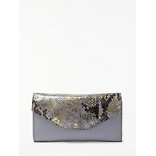 Buy Modern Rarity Carmenere Leather Purse, Blue Snake Online at johnlewis.com