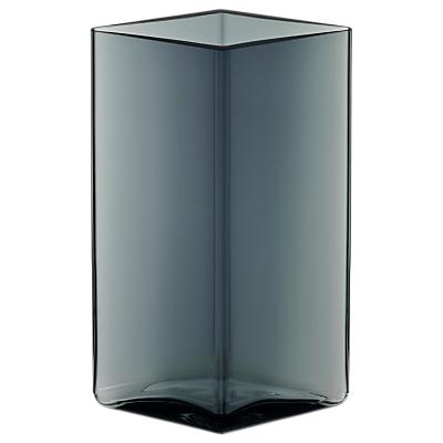Iittala Ruutu Glass Vase, 11.5 x 18cm