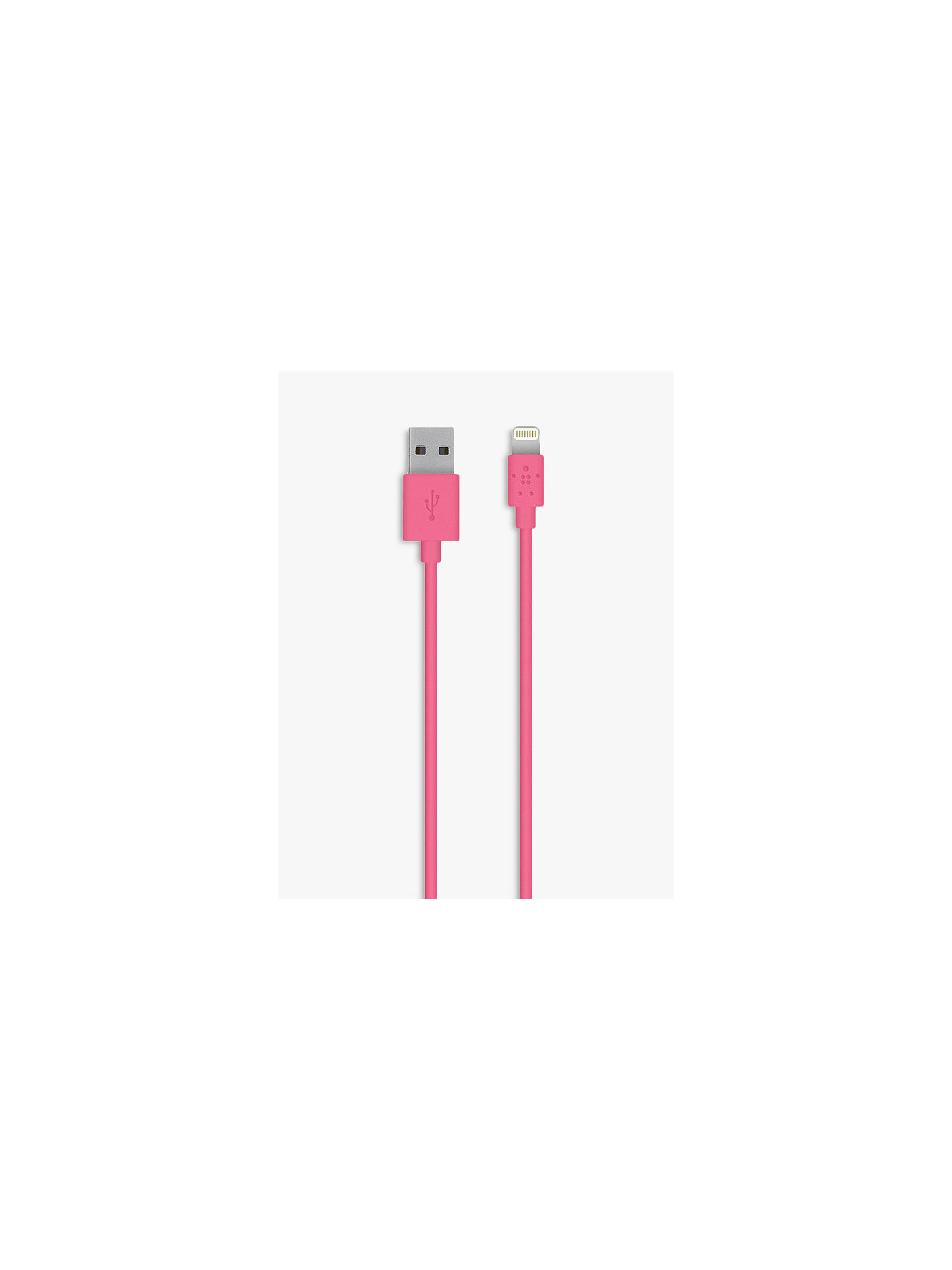 BuyBelkin MIXIT ↑ Lightning to USB Cable, Pink Online at johnlewis.com