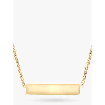 Image of IBB Personalised 9ct Gold Horizontal Bar Initial Pendant Necklace
