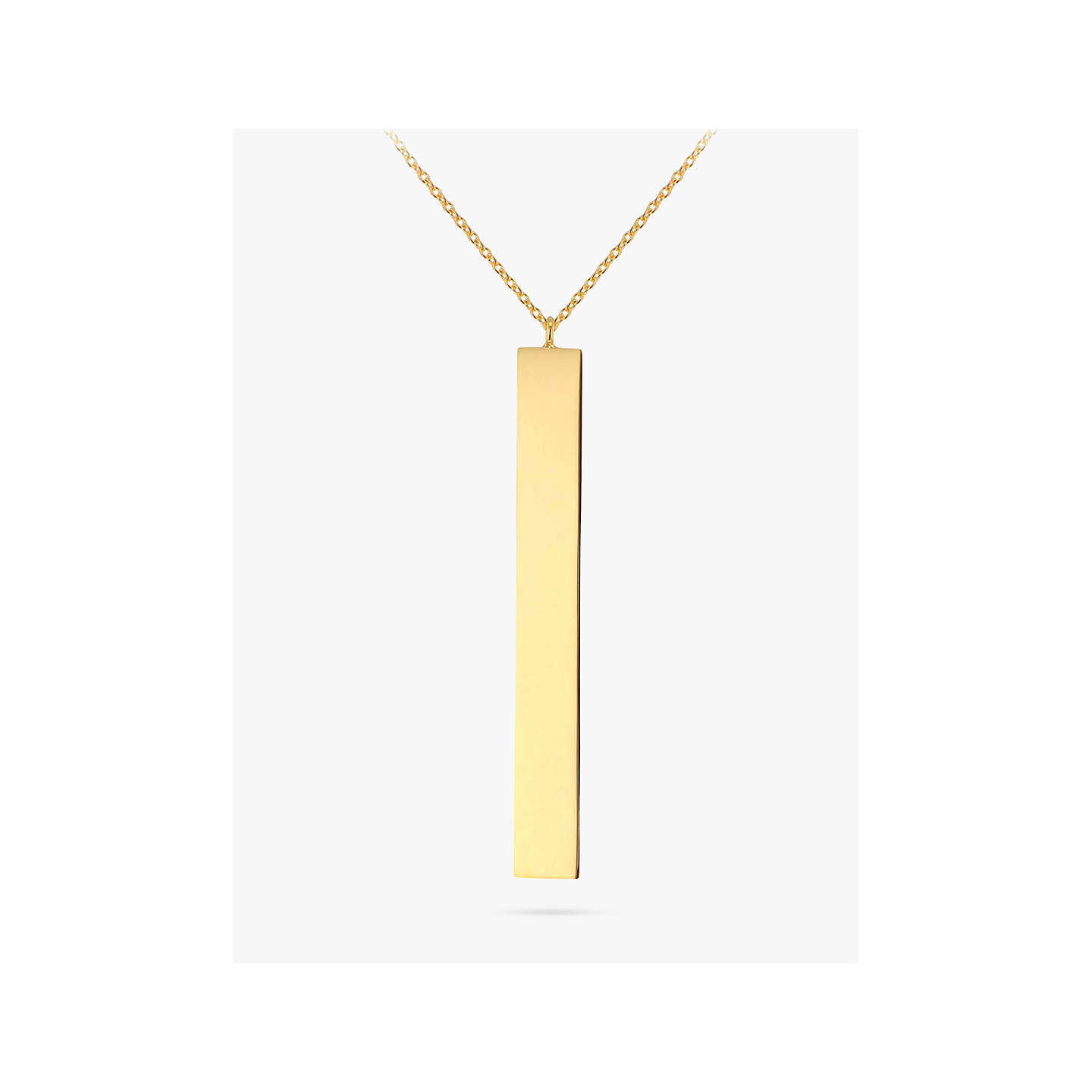 necklaces line v zales name your pendant p in own vertical create gold personalized bar