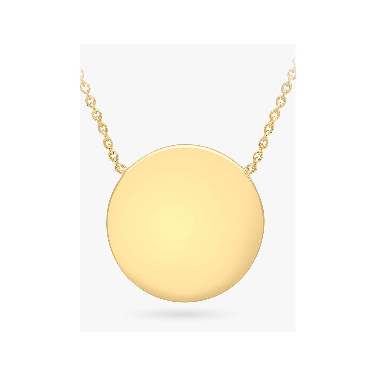 zola mary necklace gold disc by made necklaces products personalized