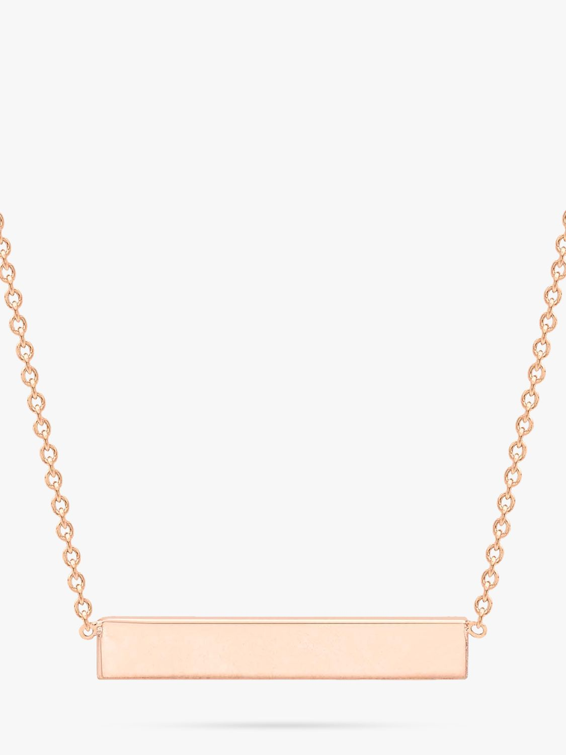 0e5a44150fe IBB Personalised 9ct Gold Horizontal Bar Initial Pendant Necklace at John  Lewis & Partners