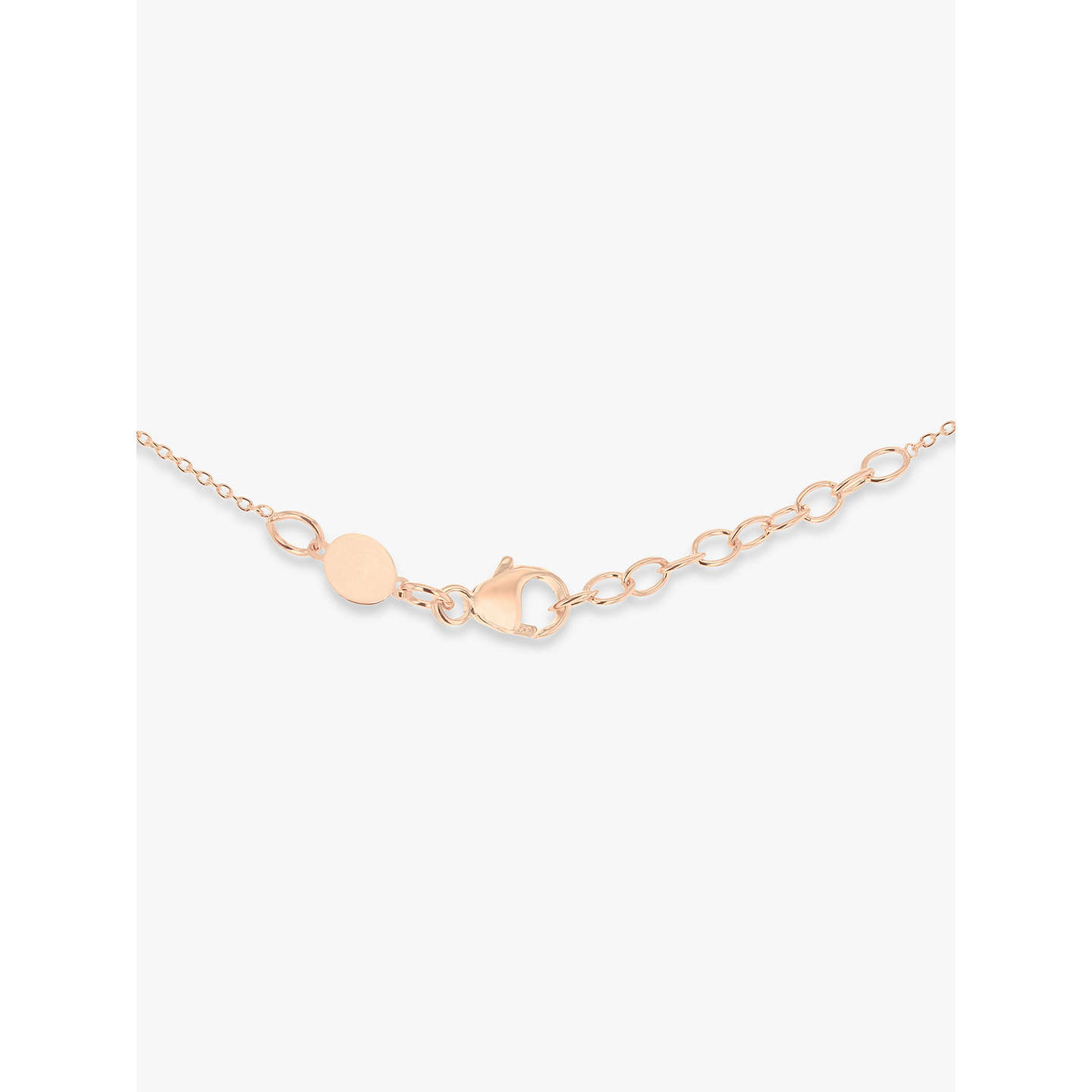 BuyIBB Personalised 9ct Gold Vertical Bar Initial Pendant Necklace, Rose Gold Online at johnlewis.com