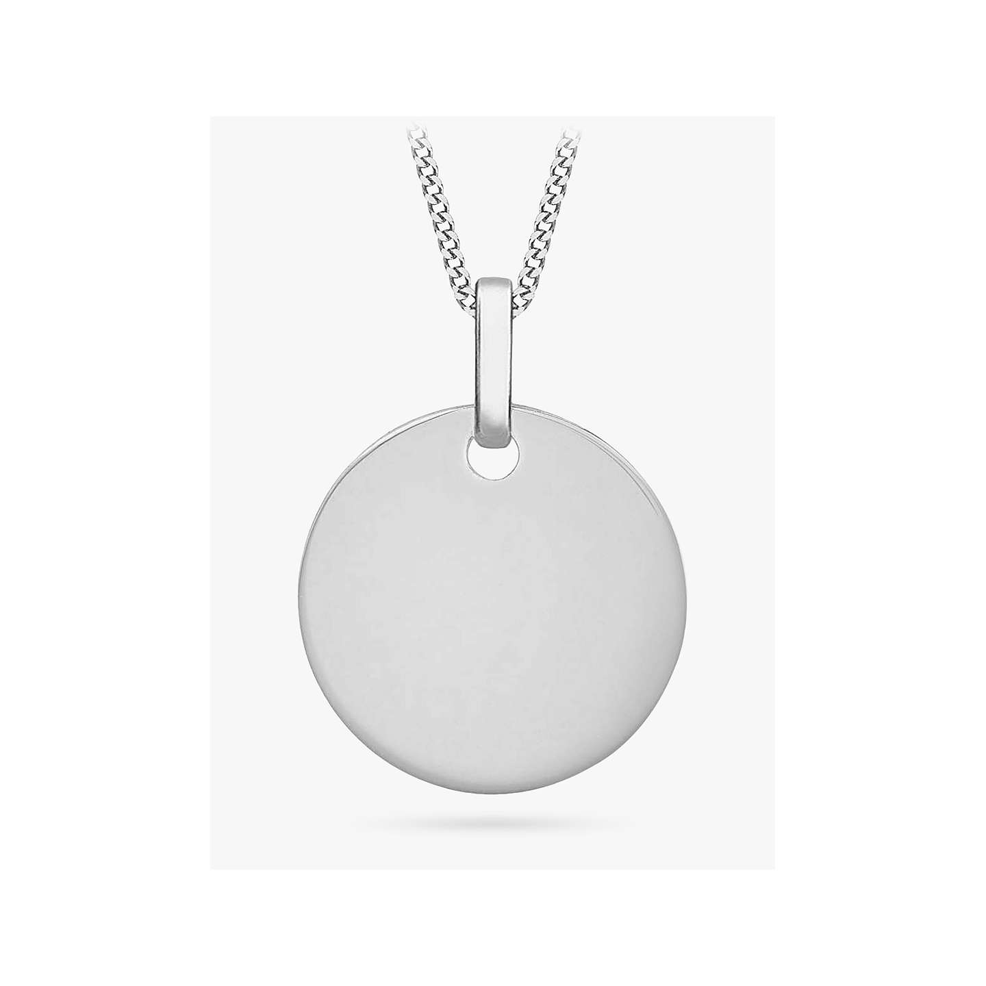 Ibb personalised 9ct gold disc initial pendant necklace at john lewis buyibb personalised 9ct gold disc initial pendant necklace white gold online at johnlewis mozeypictures Images