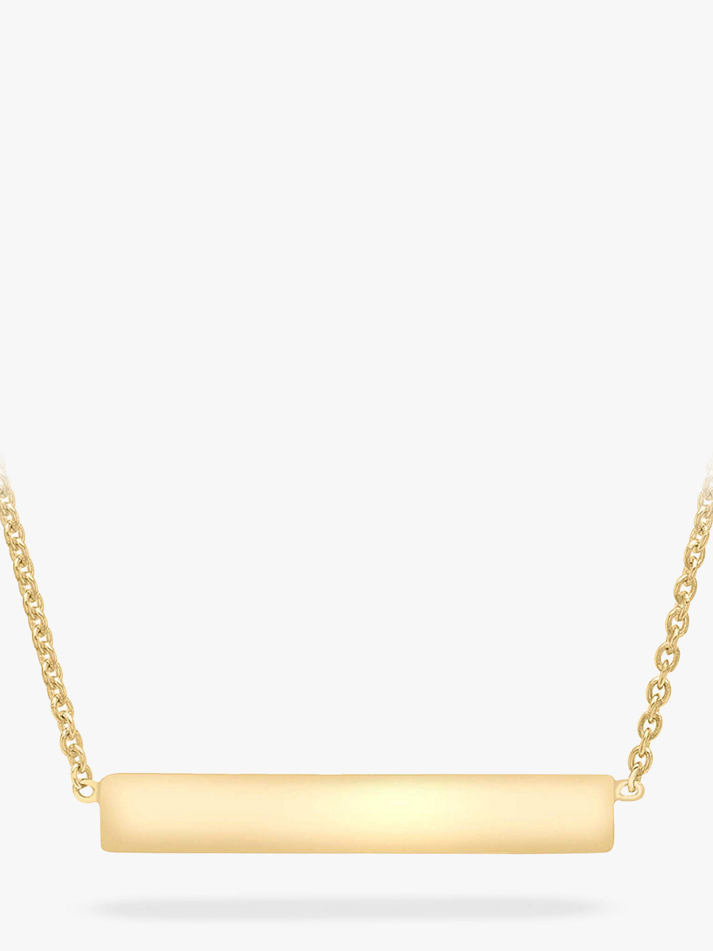 123a0a107c7 Buy IBB Personalised Small Horizontal Bar Initial Pendant Necklace, Gold  Online at johnlewis.com ...