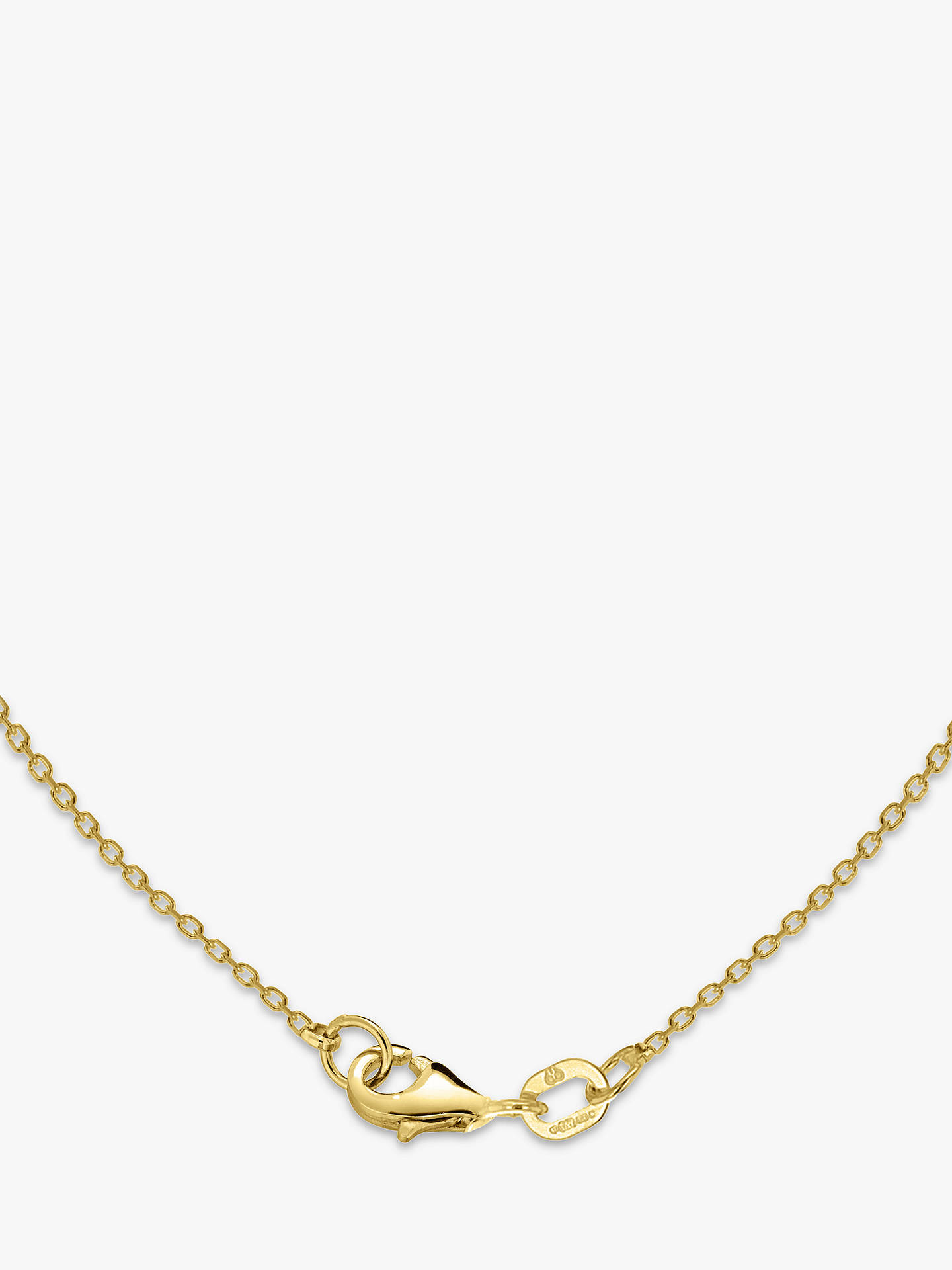 BuyIBB Personalised Small Horizontal Bar Initial Pendant Necklace, Gold Online at johnlewis.com