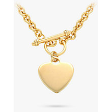 Buy IBB Personalised Chunky Chain Heart Necklace, Gold Online at johnlewis.com