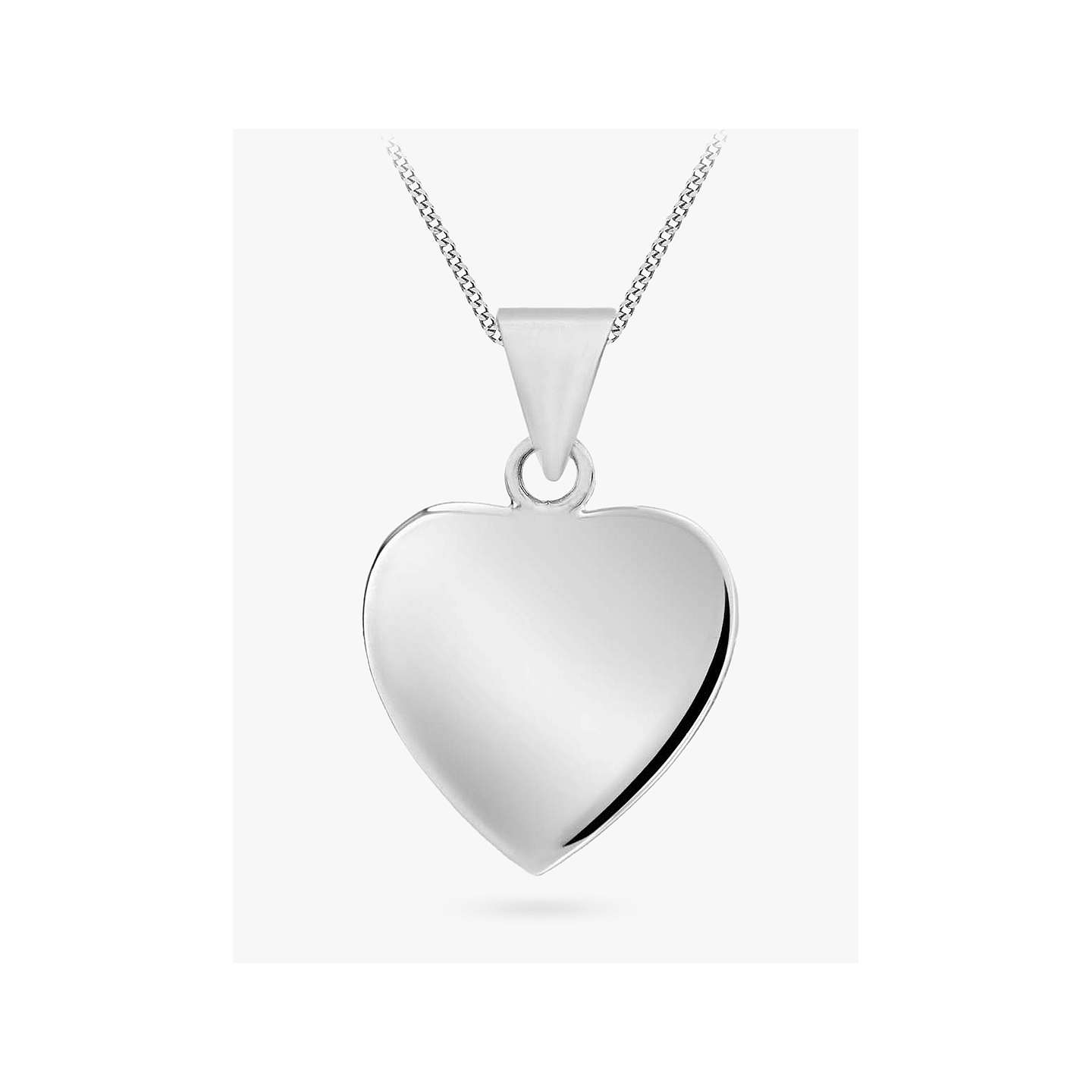 silver personalisedengraved sterling personalised necklace heart