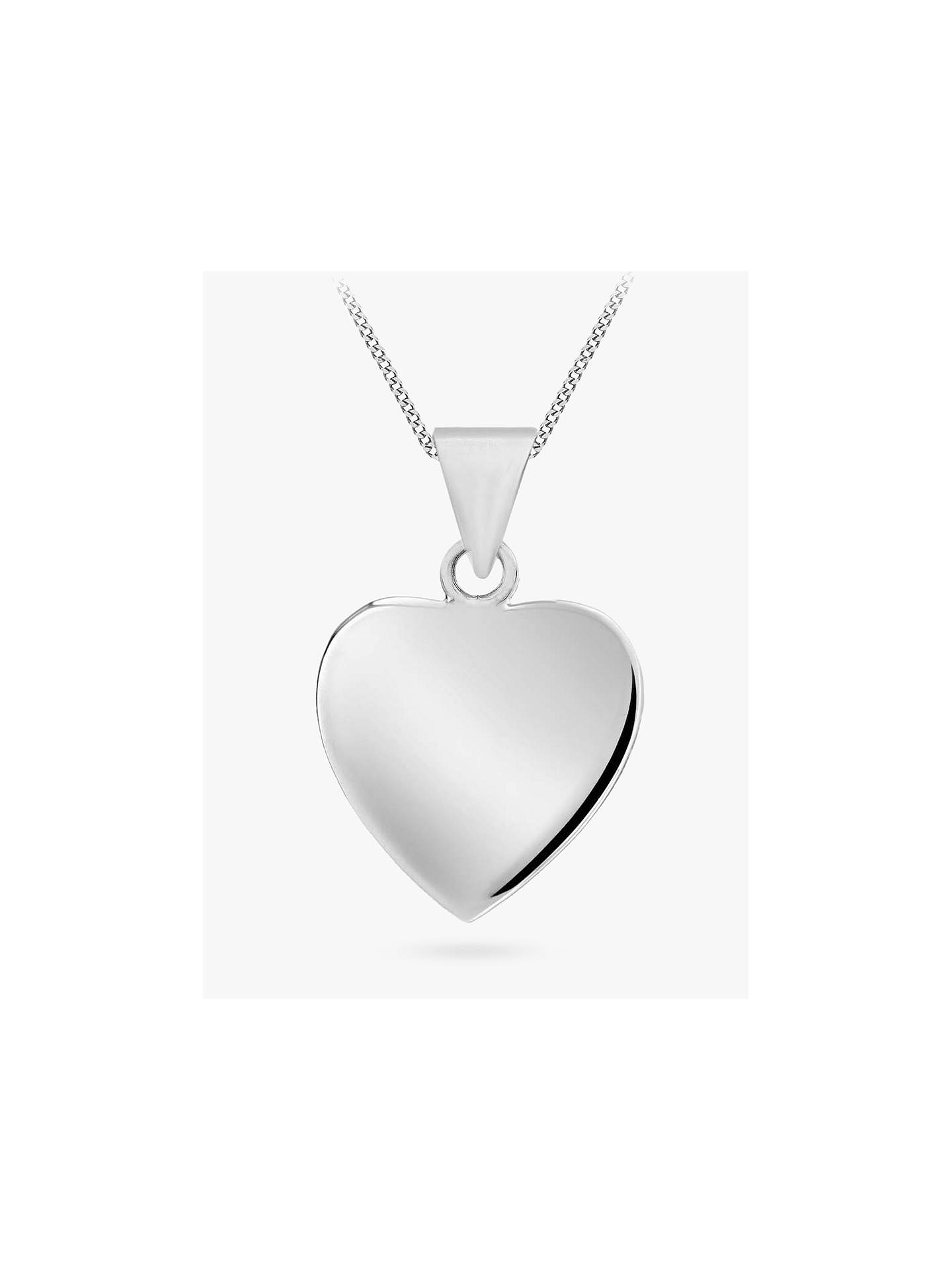 Ibb Personalised Sterling Silver Heart Necklace, Silver by Ibb