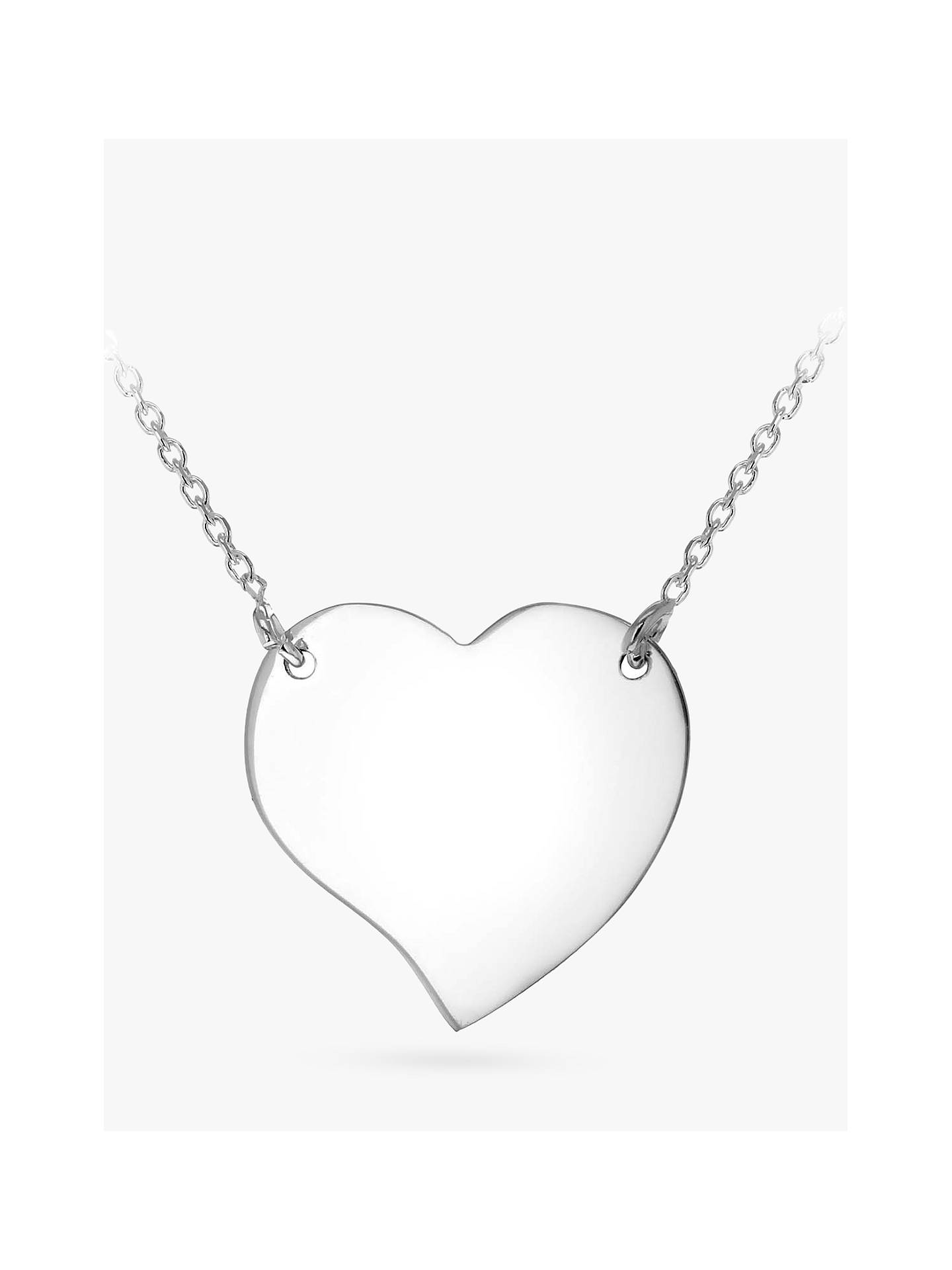 2d2a673d62 Buy IBB Personalised Sterling Silver Drawn Heart Necklace, Silver Online at  johnlewis.com ...